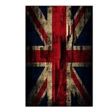 Union Jack Grunge Paint P Postcards (Package of 8)