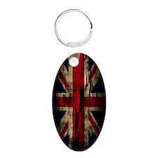 Union Jack Grunge Paint Pee Keychains