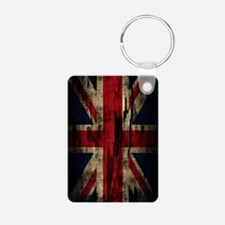 Union Jack Grunge Paint Pe Keychains