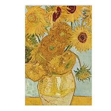 Van Gogh Sunflowers Postcards (Package of 8)