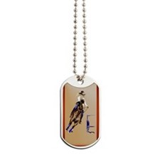 Circle Barrel Horses Dog Tags