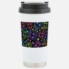 Day Of The Dead Pattern Travel Mug