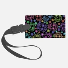 Day Of The Dead Pattern Luggage Tag