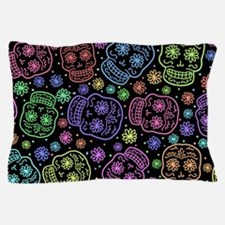 Day Of The Dead Pattern Pillow Case