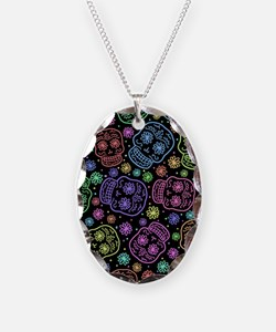 Day Of The Dead Pattern Necklace