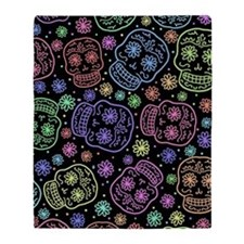 Day Of The Dead Pattern Throw Blanket