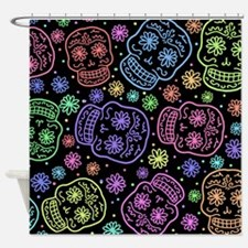 Day Of The Dead Pattern Shower Curtain