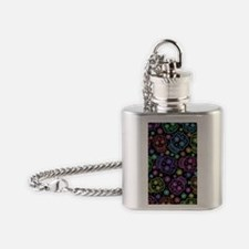 Day Of The Dead Pattern Flask Necklace