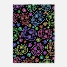 Day Of The Dead Pattern 5'x7'Area Rug