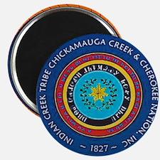 Indian Creek Chickamauga Cherokee Tribe Sea Magnet