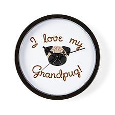 I love my Grandpug Wall Clock
