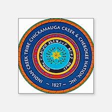 "Indian Creek Chickamauga Ch Square Sticker 3"" x 3"""
