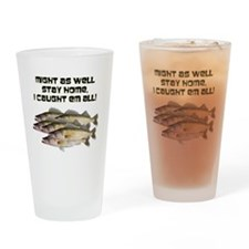 Walleye humor Drinking Glass