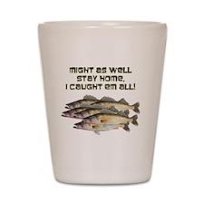 Walleye humor Shot Glass