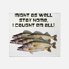 Walleye humor Throw Blanket