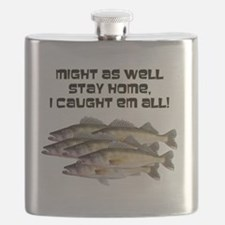 Walleye humor Flask
