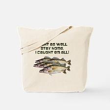 Walleye humor Tote Bag