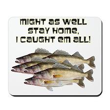 Walleye humor Mousepad
