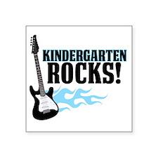 "Kingergarten Rocks Square Sticker 3"" x 3"""