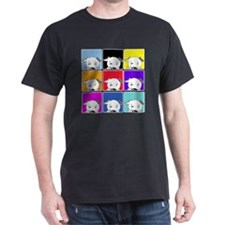 Pit Bull Colorful Collage T-Shirt