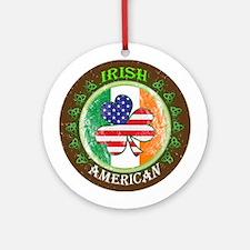 Irish American Ornament (Round)