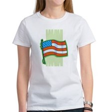 Pastel Green Flag Tee