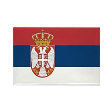 Serbia Flag Rectangle Magnet