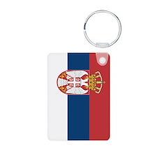 Serbia Flag Aluminum Photo Keychain