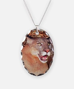 Surprised Cougar Necklace