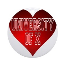 Generic University Heart Round Ornament