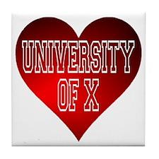 Generic University Heart Tile Coaster