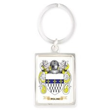 Polini Coat of Arms (Family Cres Portrait Keychain