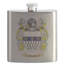 Polini Coat of Arms (Family Crest) Flask
