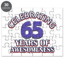 65 years old birthday design Puzzle