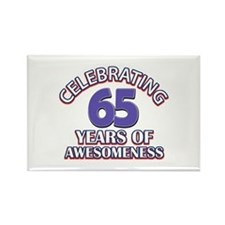 65 years old birthday design Rectangle Magnet