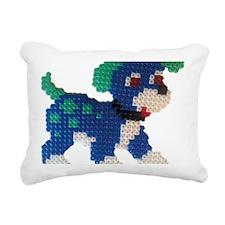Hama Puppy (Blue) Rectangular Canvas Pillow