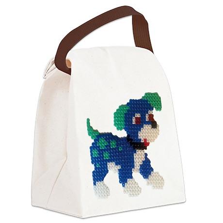 Hama Puppy (Blue) Canvas Lunch Bag