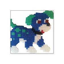 "Hama Puppy (Blue) Square Sticker 3"" x 3"""