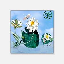 "SHOWER CURTAIN OM Lotus Dra Square Sticker 3"" x 3"""