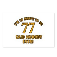 So happy to be 77 Postcards (Package of 8)