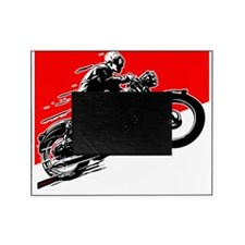 Vintage Motorcycle Racing Picture Frame