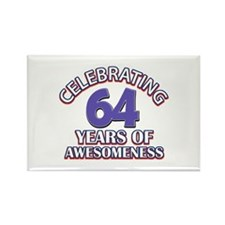 64 years old birthday design Rectangle Magnet