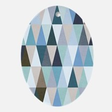 Geometric Pattern Oval Ornament