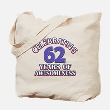 62 years old birthday design Tote Bag