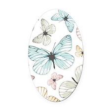 Beautiful Butterflies Oval Car Magnet