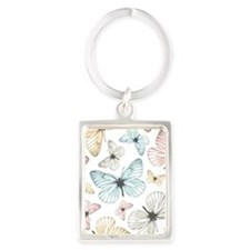 Beautiful Butterflies Portrait Keychain