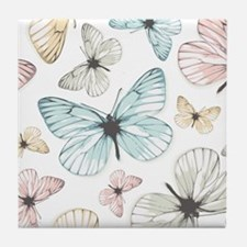 Beautiful Butterflies Tile Coaster