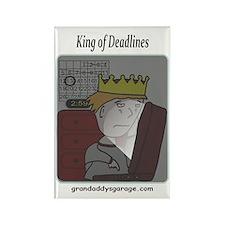 King of Deadlines Rectangle Magnet