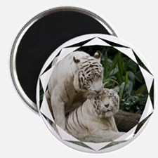 Kiss love peace and joy white tigers lovers Magnet