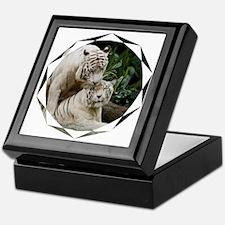 Kiss love peace and joy white tigers  Keepsake Box